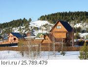 Вид на дачный посёлок (2017 год). Редакционное фото, фотограф Юлия Мальцева / Фотобанк Лори