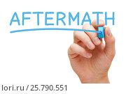 Купить «Aftermath Handwritten With Blue Marker», фото № 25790551, снято 24 мая 2019 г. (c) Ивелин Радков / Фотобанк Лори