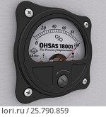 Купить «OHSAS 18001. The percent of implementation. Indicator», иллюстрация № 25790859 (c) WalDeMarus / Фотобанк Лори