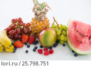 Купить «Close-up of various types of fruits», фото № 25798751, снято 19 декабря 2016 г. (c) Wavebreak Media / Фотобанк Лори