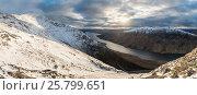 Купить «View from Ben Starav with  Loch Etive, Highlands of Scotland, UK,  UK, March 2016.», фото № 25799651, снято 21 августа 2018 г. (c) Nature Picture Library / Фотобанк Лори