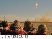 Купить «The launch of the spacecraft, Baikonur, Kazakhstan», фото № 25803495, снято 2 апреля 2010 г. (c) Игорь Овсянников / Фотобанк Лори
