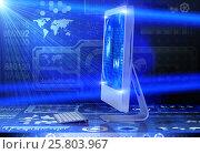 Купить «Computer screen in business concept», фото № 25803967, снято 17 ноября 2016 г. (c) Elnur / Фотобанк Лори