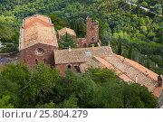 Купить «Castell de Escornalbou lost in mountains of Riudecanyes», фото № 25804279, снято 24 сентября 2016 г. (c) Яков Филимонов / Фотобанк Лори