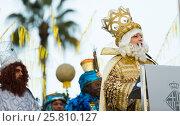 Купить «Balthazar reading welcoming address», фото № 25810127, снято 5 января 2017 г. (c) Яков Филимонов / Фотобанк Лори