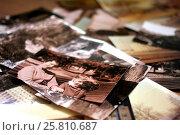 Семейный архив фотографий (2017 год). Редакционное фото, фотограф Georgmaxim / Фотобанк Лори