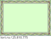 Купить «Рамка бланк шаблон для сертификата грамоты или диплома», иллюстрация № 25810775 (c) Сергей Тихонов / Фотобанк Лори