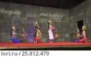 Купить «Khmer classical dancers Apsara Dance Cambodia», видеоролик № 25812479, снято 18 ноября 2016 г. (c) Михаил Коханчиков / Фотобанк Лори