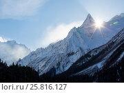 Купить «The Dombay morning», фото № 25816127, снято 5 января 2017 г. (c) Донцов Евгений Викторович / Фотобанк Лори