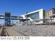 Купить «Станция МЦК «Дубровка»», фото № 25819399, снято 23 марта 2017 г. (c) Павел Москаленко / Фотобанк Лори