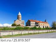 Купить «View of Alaverdi Monastery in the Alazani valley. Kakheti region. Georgia», фото № 25819507, снято 18 сентября 2016 г. (c) Elena Odareeva / Фотобанк Лори