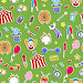 Seamless pattern on the theme of circus, simple colored icons stickers on a green background, иллюстрация № 25823379 (c) Наталья Загорий / Фотобанк Лори