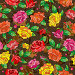 Seamless pattern with spring flowers in stained glass style, flowers, buds and leaves of  multi colored roses on a abstract background, иллюстрация № 25823391 (c) Наталья Загорий / Фотобанк Лори