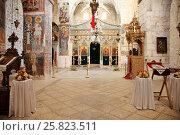 Купить «Внутреннее убранство монастыря Святого Креста в Иерусалиме. Израиль», фото № 25823511, снято 16 мая 2014 г. (c) Александр Гаценко / Фотобанк Лори