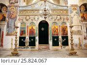 Купить «Иконостас в храме монастыря Святого Креста в Иерусалиме. Израиль», эксклюзивное фото № 25824067, снято 16 мая 2014 г. (c) Александр Гаценко / Фотобанк Лори