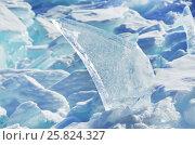 Купить «Озеро Байкал, ледяные торосы в солнечный весенний день», фото № 25824327, снято 19 октября 2018 г. (c) Овчинникова Ирина / Фотобанк Лори