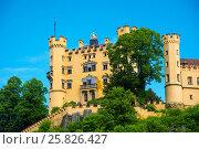Купить «Hohenschwangau Castle in Bavaria, Germany», фото № 25826427, снято 6 июня 2016 г. (c) Юрий Дмитриенко / Фотобанк Лори