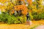 """Скульптура """"Римский оратор"""". Екатерининский парк. Город Пушкин, эксклюзивное фото № 25828287, снято 7 октября 2016 г. (c) Александр Щепин / Фотобанк Лори"""