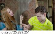 Купить «Happy and attractive young couple dance together», видеоролик № 25829251, снято 10 марта 2017 г. (c) Илья Насакин / Фотобанк Лори