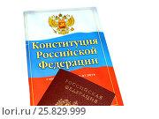 Купить «Конституция Российской Федерации», фото № 25829999, снято 23 сентября 2015 г. (c) Бурухин Никита Юрьевич / Фотобанк Лори