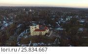 Купить «Castle fortress BIP aerial view», видеоролик № 25834667, снято 13 марта 2016 г. (c) Алексей Макаров / Фотобанк Лори