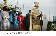Купить «The ceremony the Three Magi in the port of Barcelona, Spain», видеоролик № 25834843, снято 5 января 2017 г. (c) Яков Филимонов / Фотобанк Лори