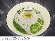 Купить «MOSCOW - DEC 25, 2014: Small model of new Spartak stadium. Stadium capacity - 45 000 people. Stadium was built in 2010-2018», фото № 25838579, снято 25 декабря 2014 г. (c) Losevsky Pavel / Фотобанк Лори
