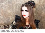 Купить «Girl in kimono and traditional Japanise makeup closeup portrait studio shot», фото № 25839467, снято 17 ноября 2014 г. (c) Losevsky Pavel / Фотобанк Лори