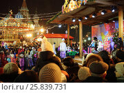 Купить «MOSCOW - JAN 04, 2015: New Year celebrations in Red Square in the evening», фото № 25839731, снято 4 января 2015 г. (c) Losevsky Pavel / Фотобанк Лори
