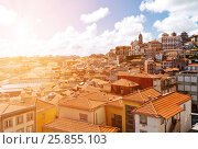 Купить «Tile roofs of Porto, Portugal», фото № 25855103, снято 5 мая 2012 г. (c) Юрий Губин / Фотобанк Лори
