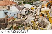 Купить «Hang Nga Guesthouse Crazy House, design Interior and Exterior landmark architecture Odd House», видеоролик № 25860859, снято 1 октября 2016 г. (c) Mikhail Davidovich / Фотобанк Лори