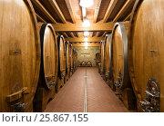 Купить «Старинный винный погреб, Тоскана, Италия», фото № 25867155, снято 13 мая 2014 г. (c) Наталья Волкова / Фотобанк Лори