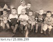 Купить «Ясельная группа 1962 г», эксклюзивное фото № 25886299, снято 20 ноября 2019 г. (c) Елена Осетрова / Фотобанк Лори
