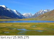 Купить «Mountain landscape with lake», фото № 25905275, снято 11 июня 2015 г. (c) Михаил Коханчиков / Фотобанк Лори