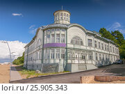 Former bath house of E.Racene on the beach, Jurmala. Latvia. Стоковое фото, агентство BE&W Photo / Фотобанк Лори