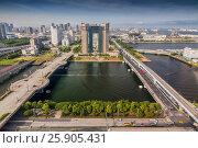 Купить «Hotel Trusty view from Giant ferris Odaiba Tokyo Japan», фото № 25905431, снято 16 ноября 2018 г. (c) BE&W Photo / Фотобанк Лори
