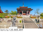 Купить «Kiyomizu Dera temple in Kyoto , Japan», фото № 25905491, снято 20 октября 2019 г. (c) BE&W Photo / Фотобанк Лори