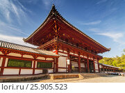 Купить «Todai-ji temple (Eastern Great Temple), Nara-shi, Nara Prefecture, Kansai region, Japan», фото № 25905523, снято 27 марта 2019 г. (c) BE&W Photo / Фотобанк Лори