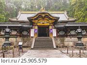 Купить «Tayiu-in, mausoleum of Tokugawa Iemitsu, famous shogun. Part of Rinno-ji Buddhist temple in Nikko Japan», фото № 25905579, снято 12 июля 2020 г. (c) BE&W Photo / Фотобанк Лори