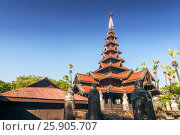 Bagaya Monastery (Maha Waiyan Bontha Bagaya), Inwa, Mandalay Region, myanmar (Burma) Стоковое фото, агентство BE&W Photo / Фотобанк Лори