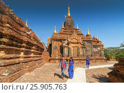 Dhammayazika Pagoda Temple on the Plain of Bagan, Bagan, Myanmar (Burma) Редакционное фото, агентство BE&W Photo / Фотобанк Лори