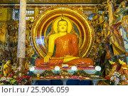 Купить «Large Buddhist statue at Gangaramaya Temple, Colombo, Sri Lanka, Asia», фото № 25906059, снято 26 марта 2019 г. (c) BE&W Photo / Фотобанк Лори