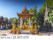 Купить «The great buddha in Wat Si Saket complex, Vientiane, Laos, Indochina, Southeast Asia», фото № 25907079, снято 25 мая 2019 г. (c) BE&W Photo / Фотобанк Лори