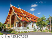 Wihaan Luang Building in Wat Phra Singh complex, Chiang Mai, Thailand. Стоковое фото, агентство BE&W Photo / Фотобанк Лори