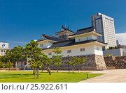 Купить «Реконструированный в 1954 г. донжон (главная башня) замка Тояма, г. Тояма, Япония», фото № 25922611, снято 5 августа 2016 г. (c) Иван Марчук / Фотобанк Лори