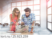 Купить «Business people web designing on laptop in office», фото № 25923259, снято 21 января 2020 г. (c) Wavebreak Media / Фотобанк Лори