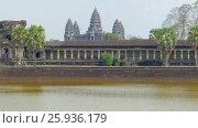 Купить «Angkor Wat temple landscape in Siem Reap, Cambodia», видеоролик № 25936179, снято 7 декабря 2016 г. (c) Михаил Коханчиков / Фотобанк Лори