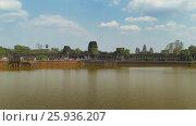 Купить «Angkor Wat temple landscape in Siem Reap, Cambodia», видеоролик № 25936207, снято 7 декабря 2016 г. (c) Михаил Коханчиков / Фотобанк Лори