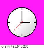 Купить «Clock icon», иллюстрация № 25940235 (c) Денис Дряшкин / Фотобанк Лори