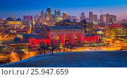 Купить «Kansas City (often referred to as K. C. ) is the most populous city in the U. S. state of Missouri. In 2010, it had a population of 459,787, which had...», фото № 25947659, снято 19 февраля 2015 г. (c) age Fotostock / Фотобанк Лори